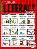 File Folder Literacy Centers- September