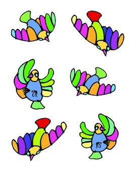 File Folder Matching Bird Shadows