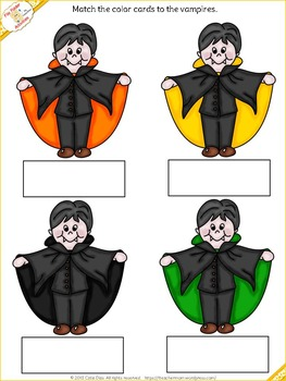 File Folder - Matching Colors - Halloween