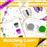 File Folder - Matching Colors - Spring