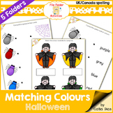 File Folder - Matching Colours - Halloween (UK Spelling)