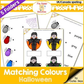 File Folder - Matching Colours - Halloween (UK Spelling)