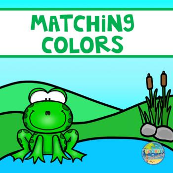 File Folder Game--Matching Frogs to Lily Pads