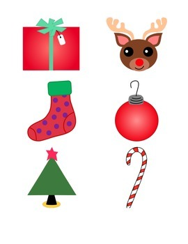 File Folder Matching Identical Pictures (December, Color)