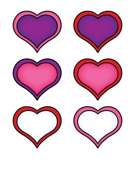 File Folder Matching Identical Pictures (Hearts)