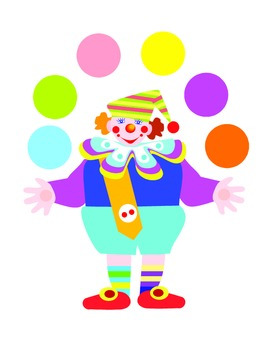 File Folder Matching Juggling Clowns