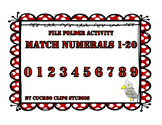File Folder Matching Numerals 1-20 (Red)