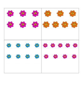 File Folder Matching Numerals to Quantities 1-10 (Flower Theme)