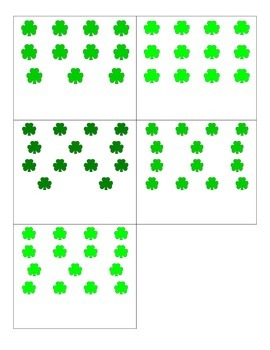 File Folder Matching Numerals to Quantities 11-20 (Shamrock Theme)