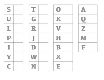 File Folder Matching Upper to Lowercase Letters (Gray)