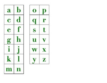 File Folder Matching Upper to Lowercase Letters (Green)
