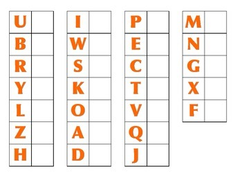 File Folder Matching Upper to Lowercase Letters (Orange)