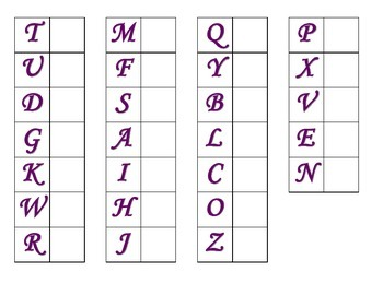 File Folder Matching Upper to Lowercase Letters (Purple)