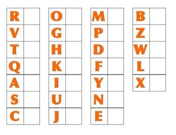 File Folder Activity Matching Uppercase Letters (Orange)