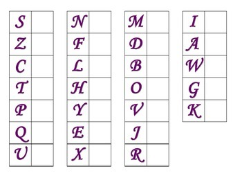 File Folder Matching Uppercase Letters (Purple)
