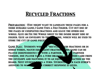 Fraction file folders teaching resources teachers pay teachers file folder math game recycle your fractions fandeluxe Gallery