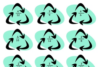 File Folder Math Game: Recycle Your Fractions