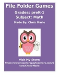 File Folder Math Games PreK-1: Counting and simple addition