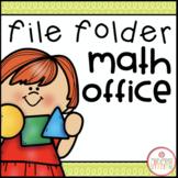 File Folder Math Office