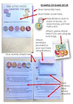 File Folder Maths Activities Preschool and Kindergarten