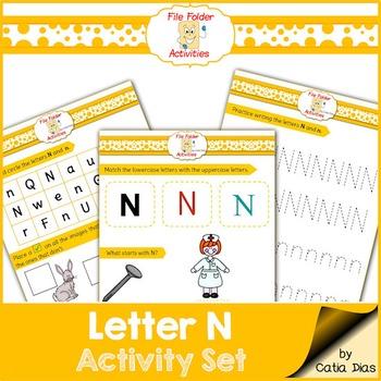 Letter N - File Folders