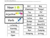 File Folder- Noun, Verb, Adjective Sort