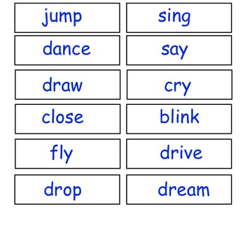 File Folder Noun and Verb Activity (PDF)