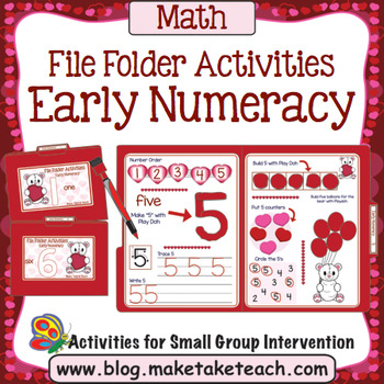 File Folder Numbers - Valentine Themed Activities
