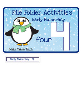File Folder Numbers - Winter Themed Activities