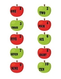 File Folder Numerals to Number Words 1-20 (Apple Theme)