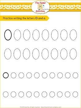 Letter O - File Folders