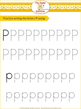 Letter P - File Folders