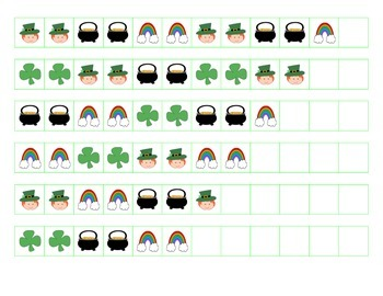 File Folder Patterns (AABBCC, St. Patrick's Theme)