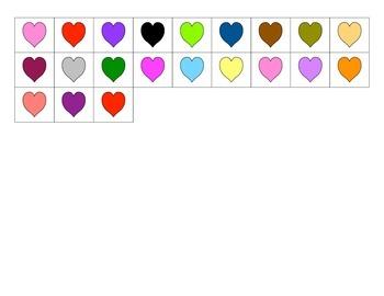 File Folder Patterns (ABC, Hearts Theme)