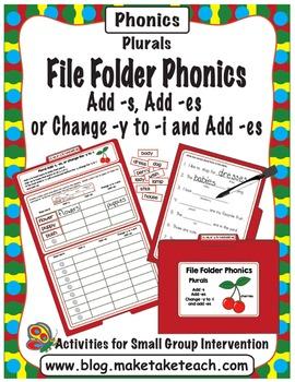 Add -s, -es or change y to i - File Folder Phonics