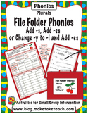 Add -s, -es or change y to i - File Folder Phonics