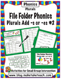 Add -s or -es #2 - File Folder Phonics