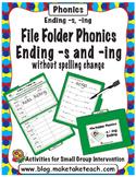 Adding -s and -ing- File Folder Phonics