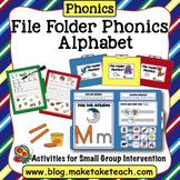 Alphabet - File Folder Phonics for Learning the Alphabet