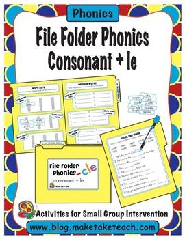 Consonant + le - File Folder Phonics