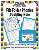 Doubling Rule- File Folder Phonics