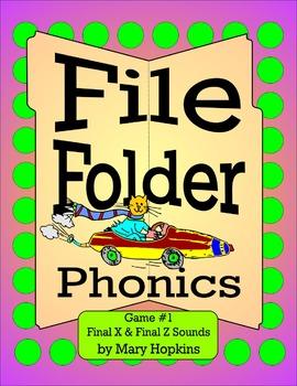 File Folder Phonics - Final X & Final Z Sounds