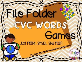 File Folder Phonics Games-CVC WORDS