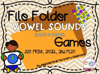 File Folder Phonics Games-LONG & SHORT VOWEL SOUNDS