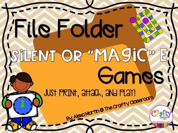 File Folder Phonics Games-MAGIC E WORDS