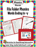 Plurals Words Ending in -y -  File Folder Phonics