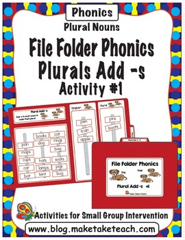 Plurals adding -s - File Folder Phonics