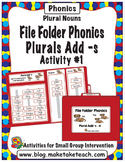 Plurals adding -s - File Folder Phonics