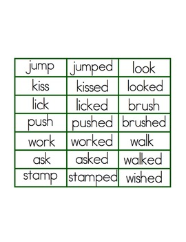Past Tense -ed - File Folder Phonics
