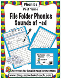 Sounds of -ed - File Folder Phonics